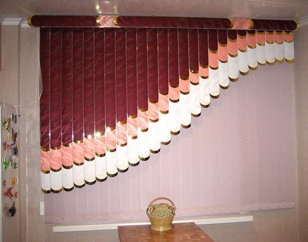 мультифактурные шторы жалюзи на кухню фото