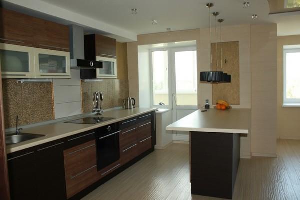 современные кухни с барной стойкой фото