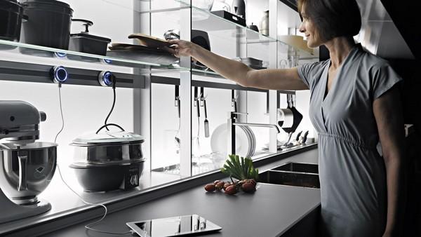 удобное расположение мебели на кухне фото