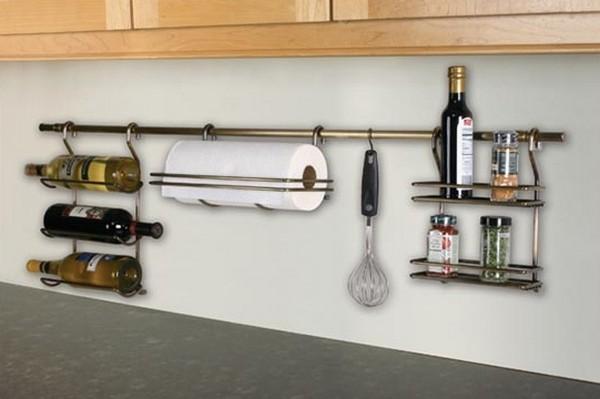 установка рейлинга на кухне фото