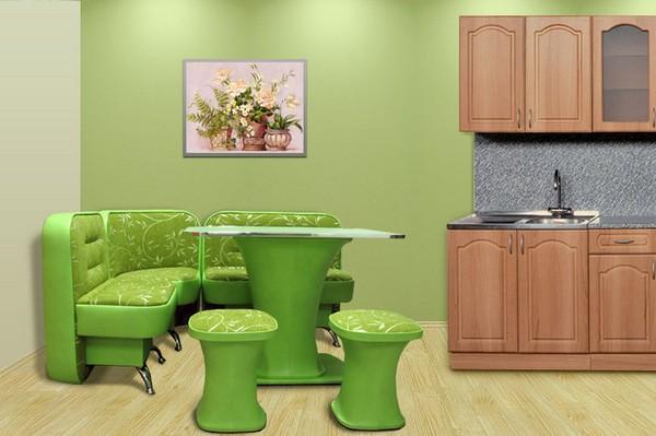 выделение обеденной зоны на кухне фото