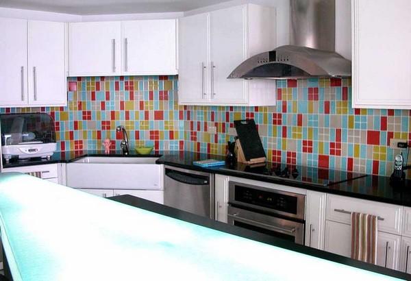 кухонный фартук из мозаики фото