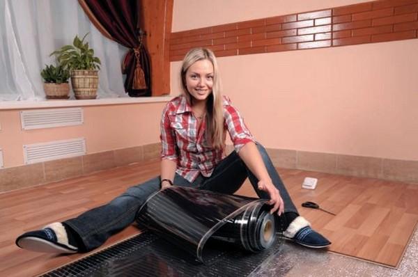 как сделать теплый пол на кухне фото