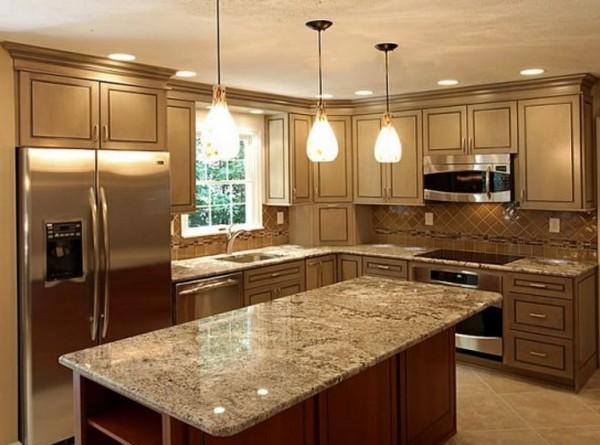 освещение потолка на кухне фото