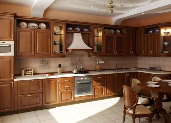 дизайн кухни в частном доме с окном фото