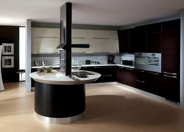 интерьер кухни гостиной в частном доме фото