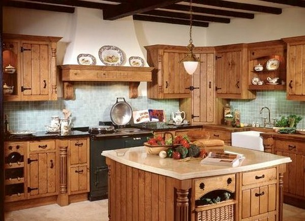 Kitchen in a private house with your own hands