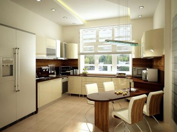 планировка кухни в частном доме фото