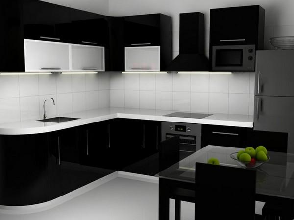 фартук для черно белой кухни фото
