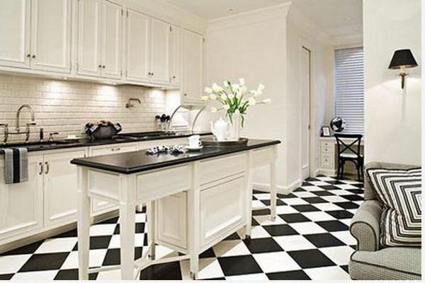 кухня в черно белом цвете фото