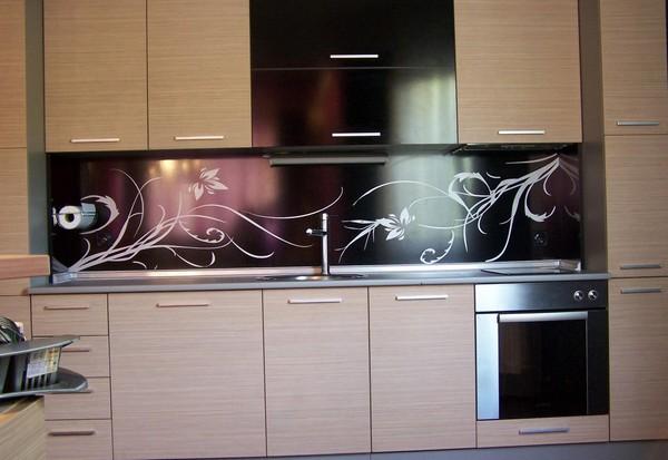 кухонный стеклянный фартук фото