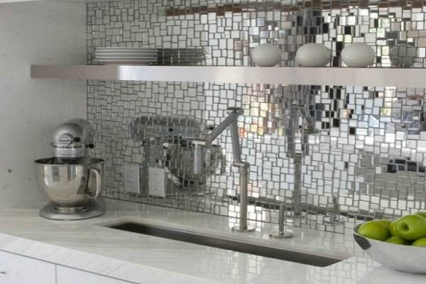 отделка мозаикой кухни фото