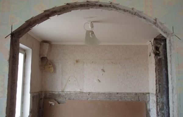 Дверная арка на кухню своими руками