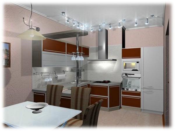 потолочные светильники для кухни фото