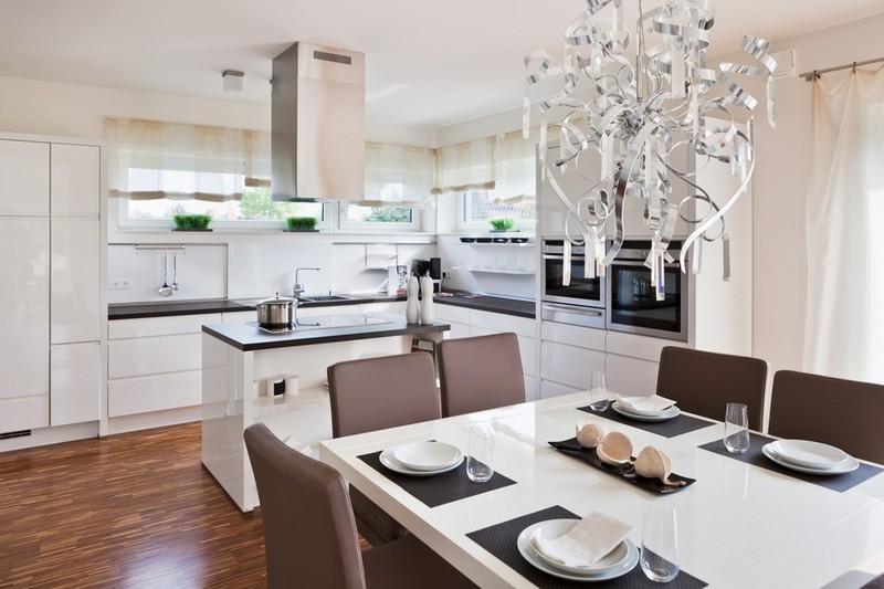 белая кухня в классическом стиле фото