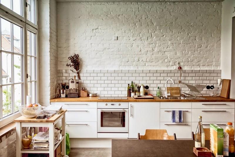 фартук для кухни в стиле лофт фото