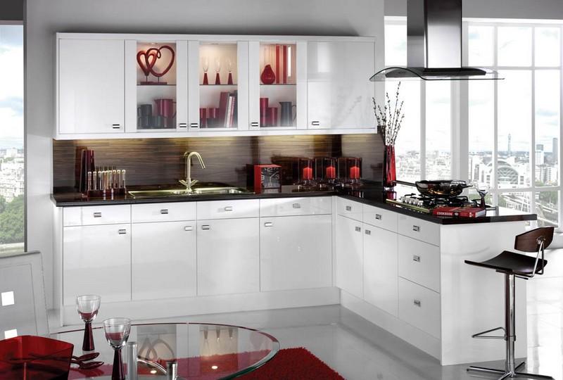 маленькая белая кухня фото