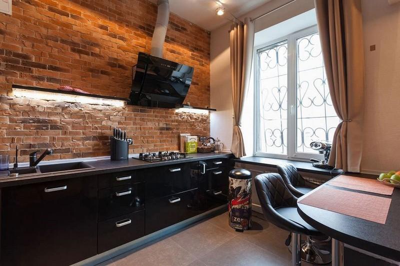 маленькая кухня в стиле лофт фото