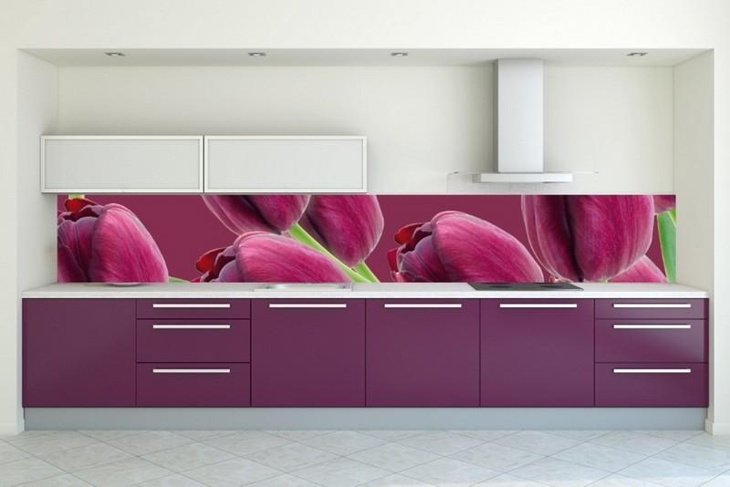 бело фиолетовая кухня фото