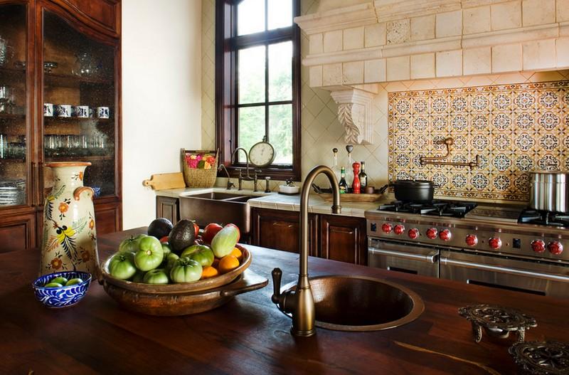 дизайн кухни в средиземноморском стиле фото