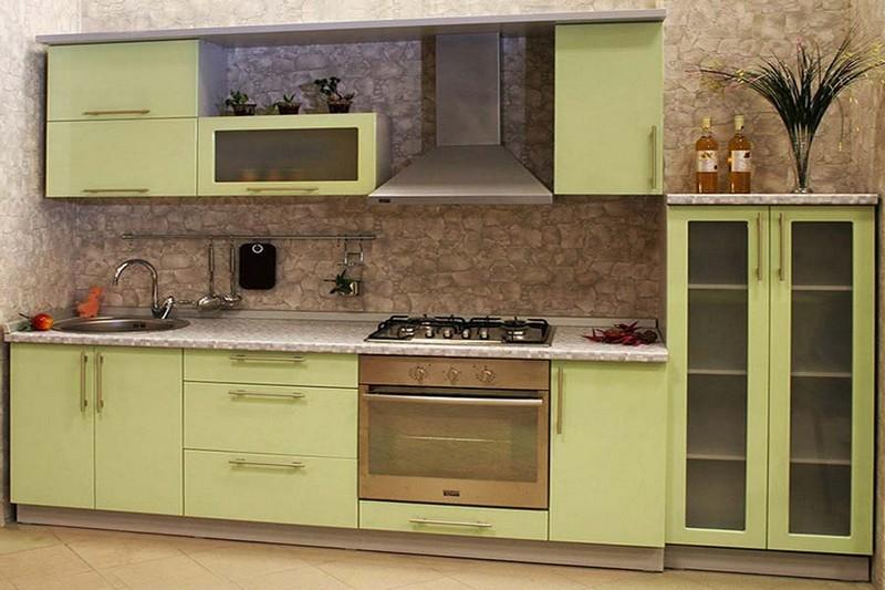 фисташково коричневая кухня фото