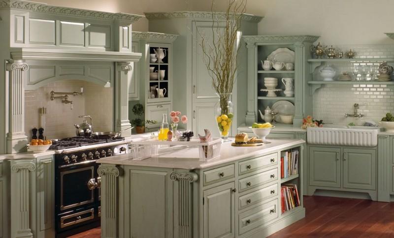 интерьер кухни в стиле прованс фото