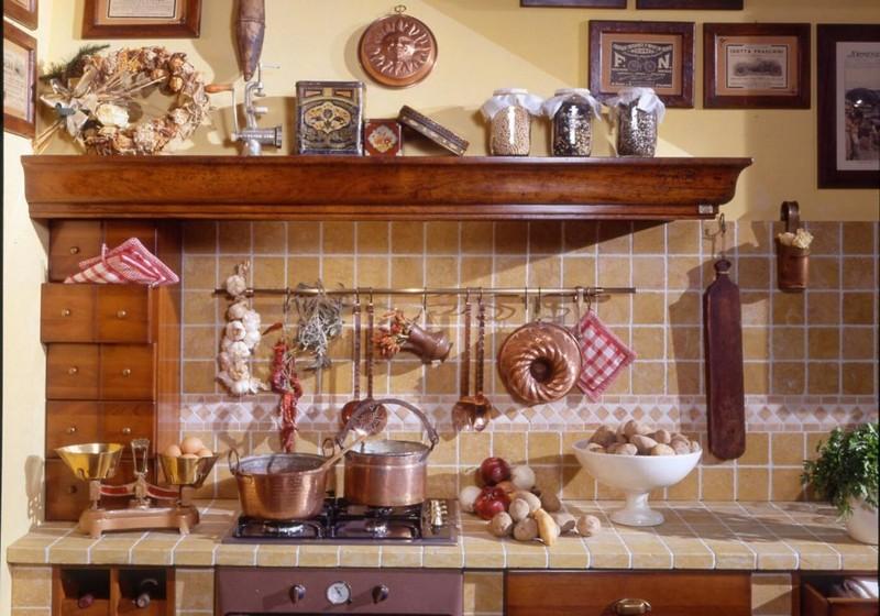 как оформить кухню в деревенском стиле фото