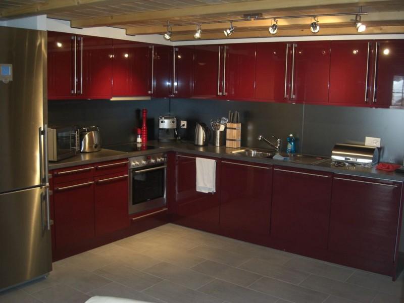 оформление кухни в стиле хай тек фото