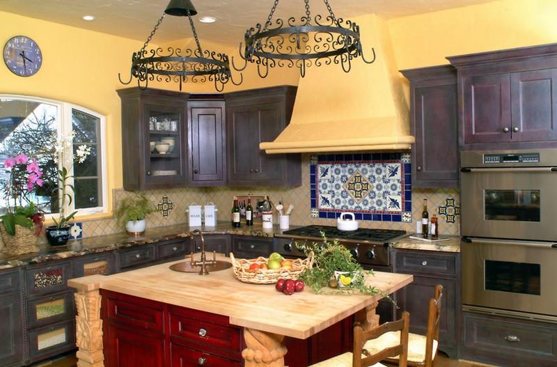 средиземноморский стиль в интерьере кухни фото