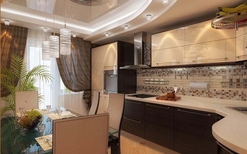Дизайн маленькой кухни в стиле модерн фото