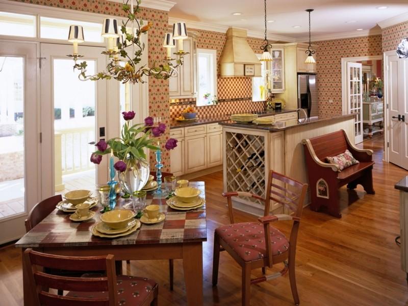 кухня гостиная в английском стиле фото