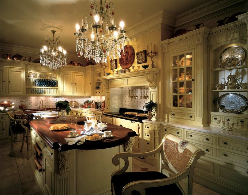интерьер кухни в английском стиле фото