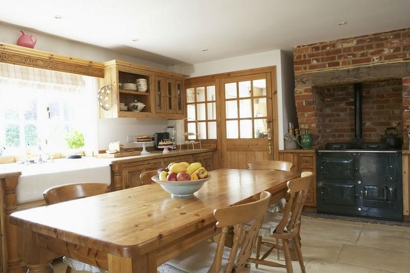 кухня в коричневом цвете фото