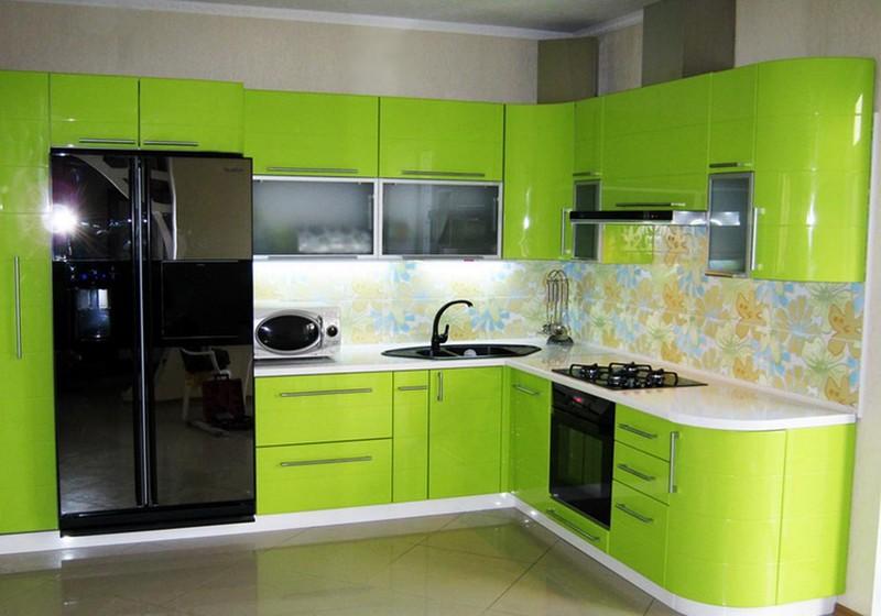салатовый цвет в интерьере кухни фото