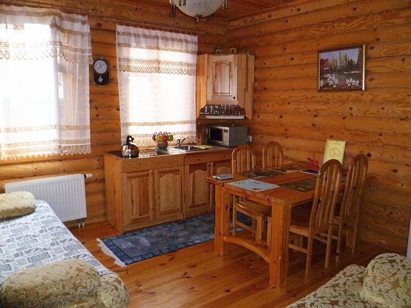 фото кухня в деревянном доме