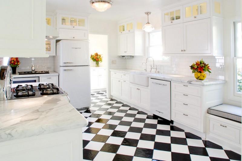 интерьер кухни ретро фото