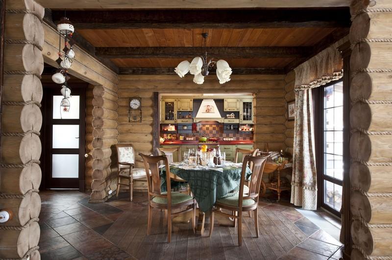 Интерьер в деревянном доме вагонкой