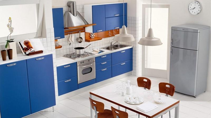 кухня в голубых тонах фото