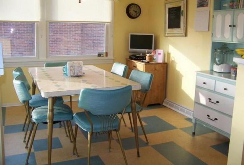 ретро кухня фото