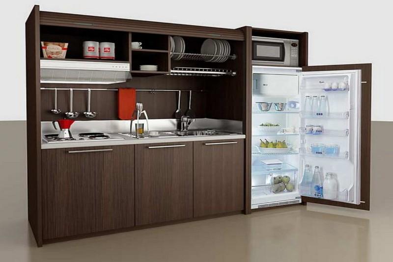 мини кухня для квартиры студии фото
