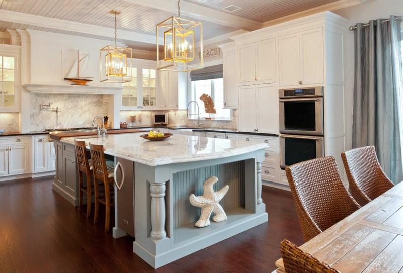 интерьера кухни в морском стиле фото