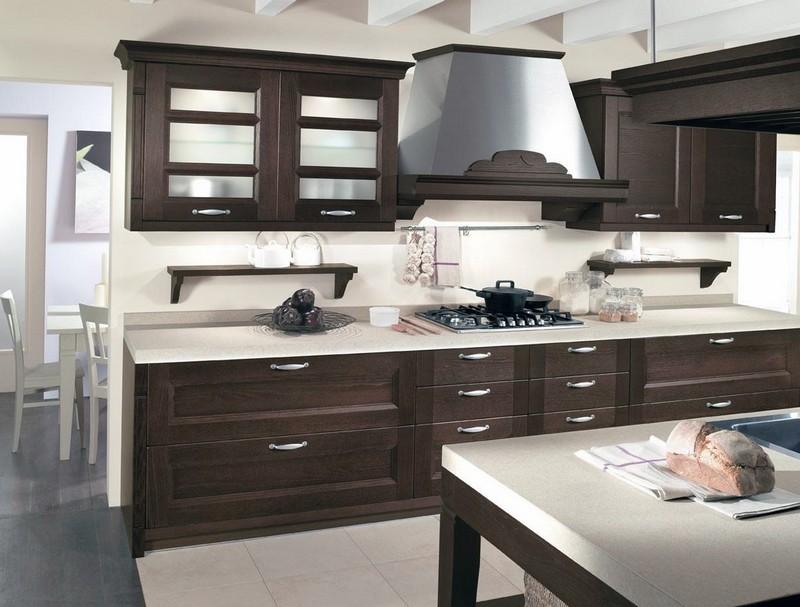 кухня белая с венге фото