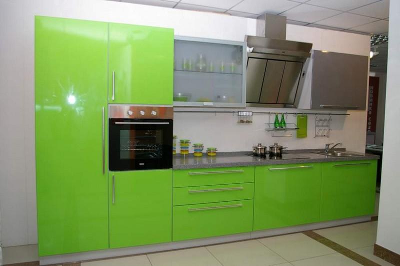 кухня цвета лайм фото