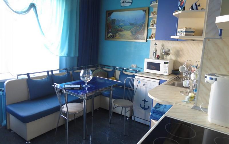 кухня в морском стиле фото