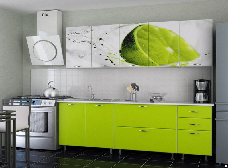 мебель для лайм кухни фото