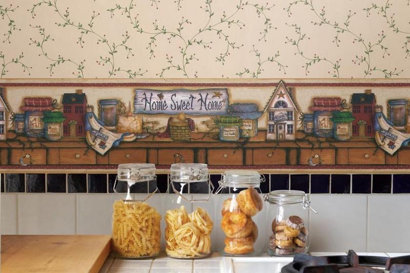 цвет обоев для маленькой кухни фото