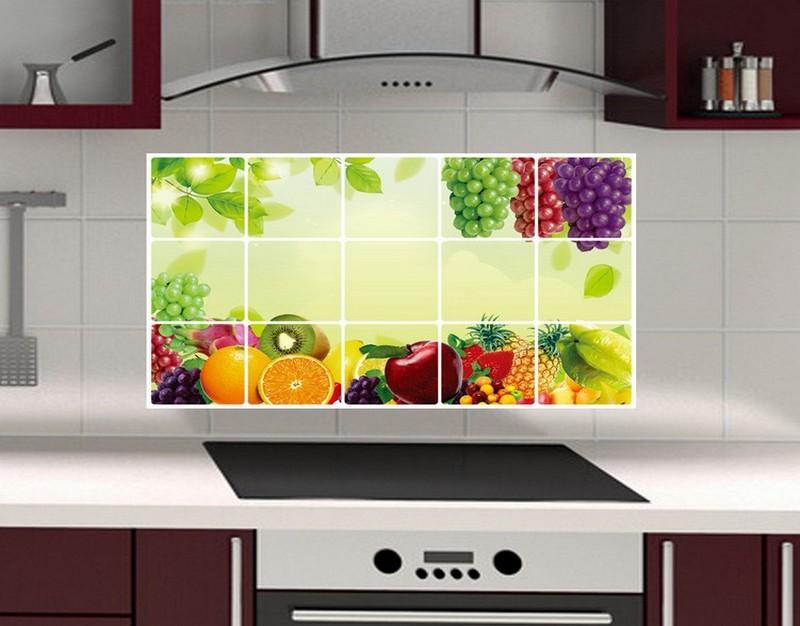 наклейки на плитку на кухне фото