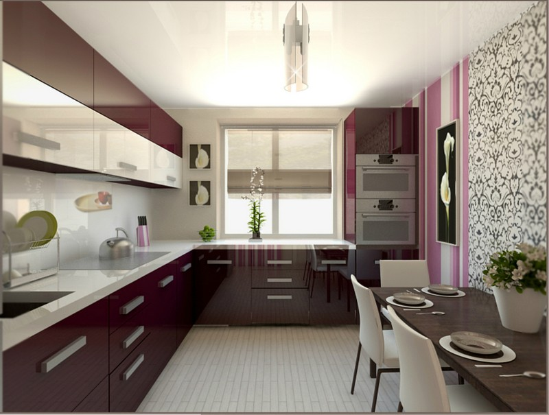 освещение квадратной кухни фото