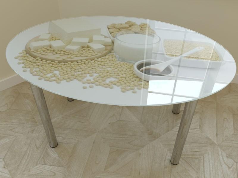 стол для кухни со стеклом фото