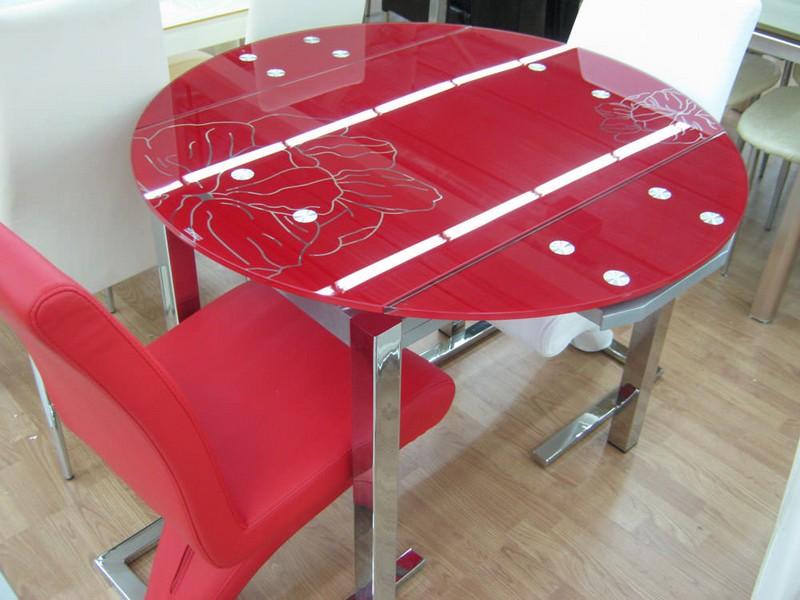 столы стеклянные раздвижные для кухни фото